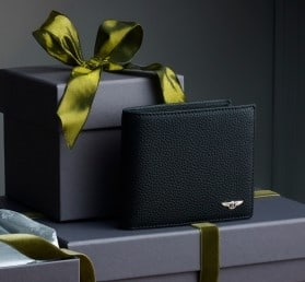 Bentley-themed holiday gift idea: billfold wallet