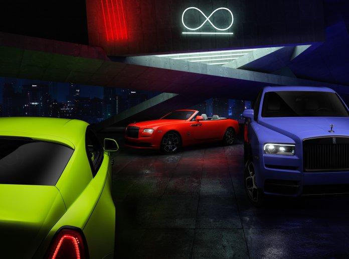 Neon-colored Rolls-Royce