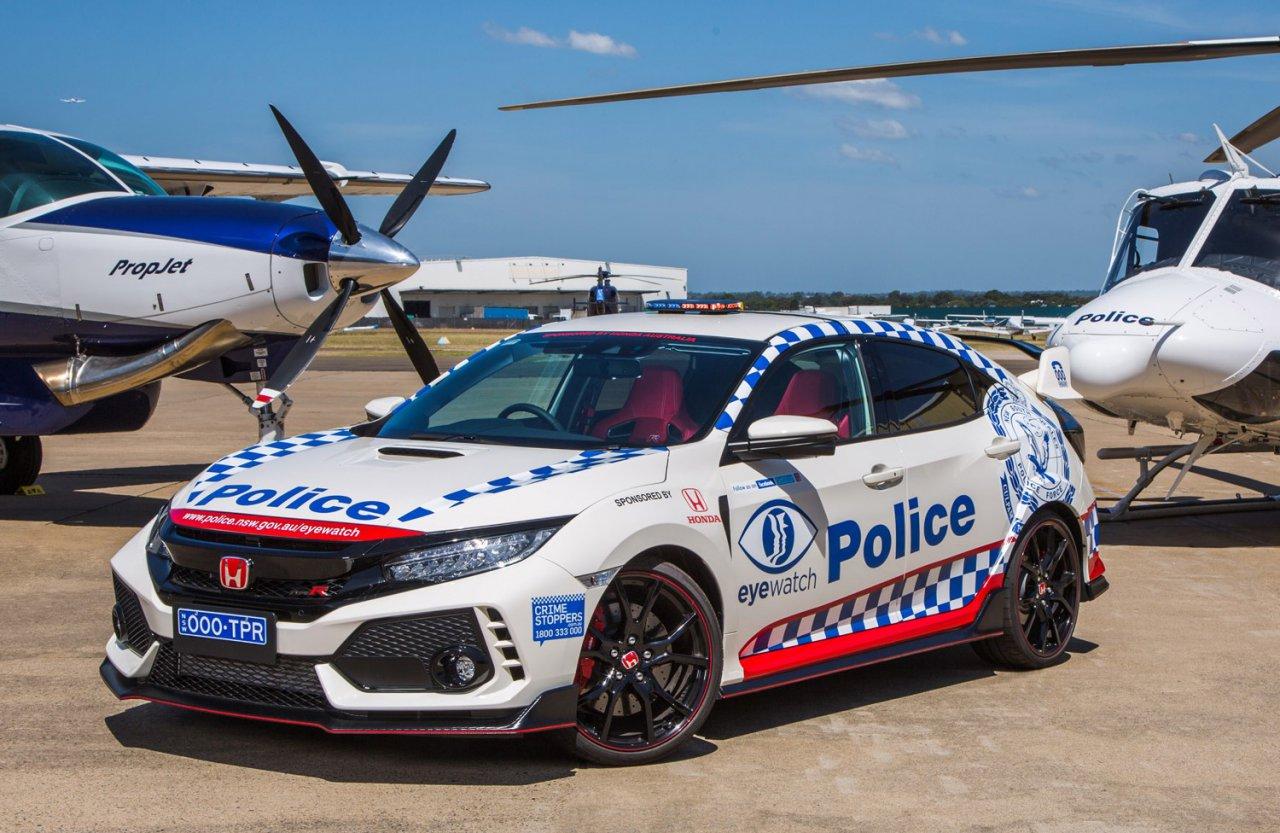 Honda Civic Type R – Australia  cop car