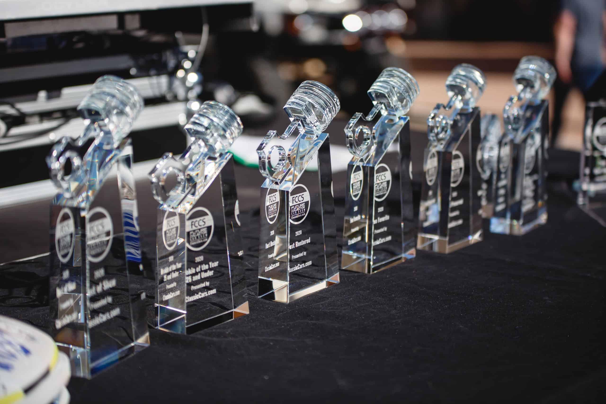 FCCS Crystal Piston Show Trophies