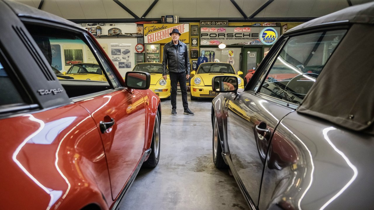 Ottocar and a few of his Porsches