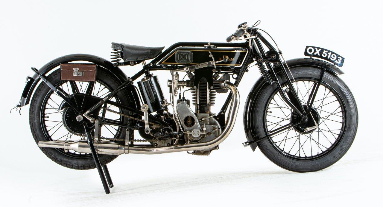 1928 Sunbeam TT Model 90 motorcycles
