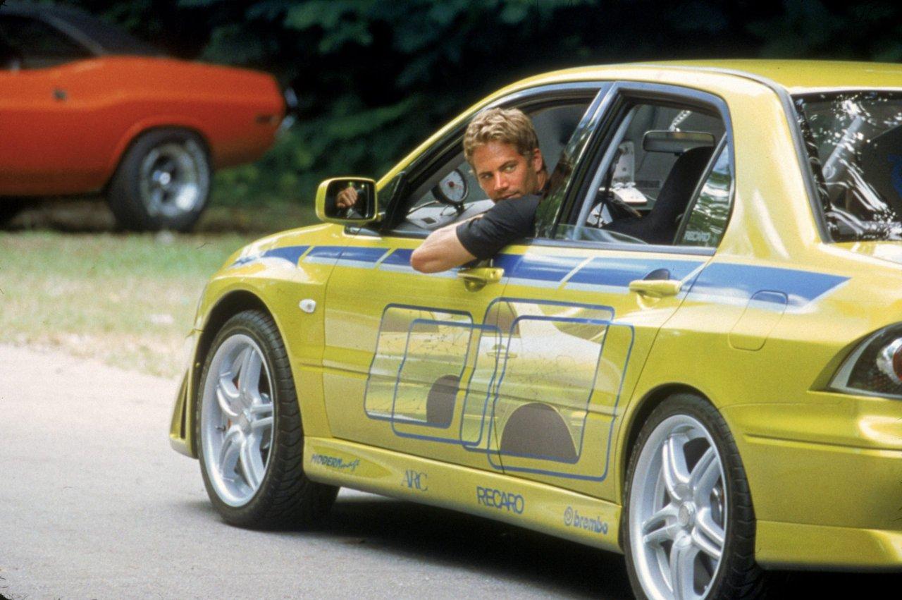 Paul Walker driving a Mitsubishi Evo 9 | Fast and Furious