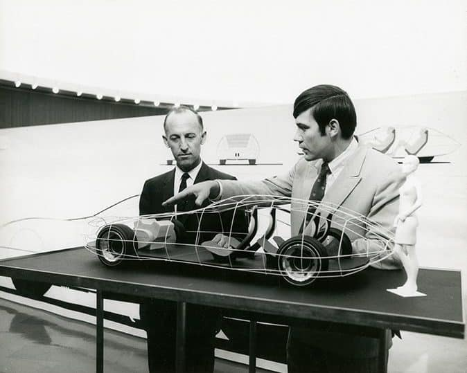 Young Jerry Wiegert showing his concept for a four-seat, front-wheel drive sports tourer | Hagerty