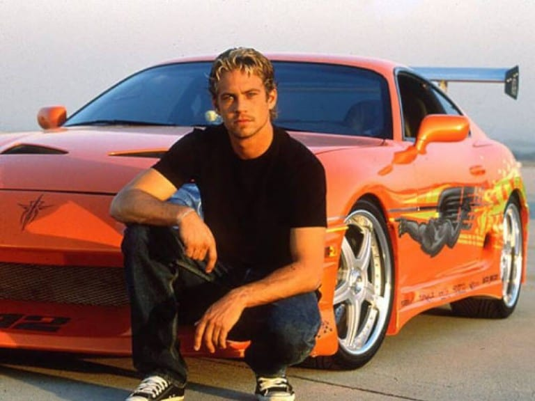 Paul Walker with the 1993 Toyota Supra | Fast and Furious