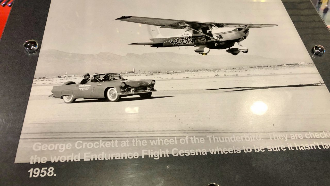 Thunderbird, Why is there a vintage Thunderbird on the second floor of McCarran airport?, ClassicCars.com Journal
