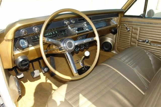 1967 Chevy Chevelle 300 Deluxe Wagon 4-speed interior