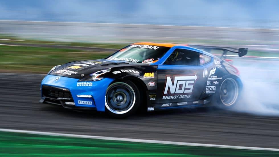 drifting Nissan 350Z
