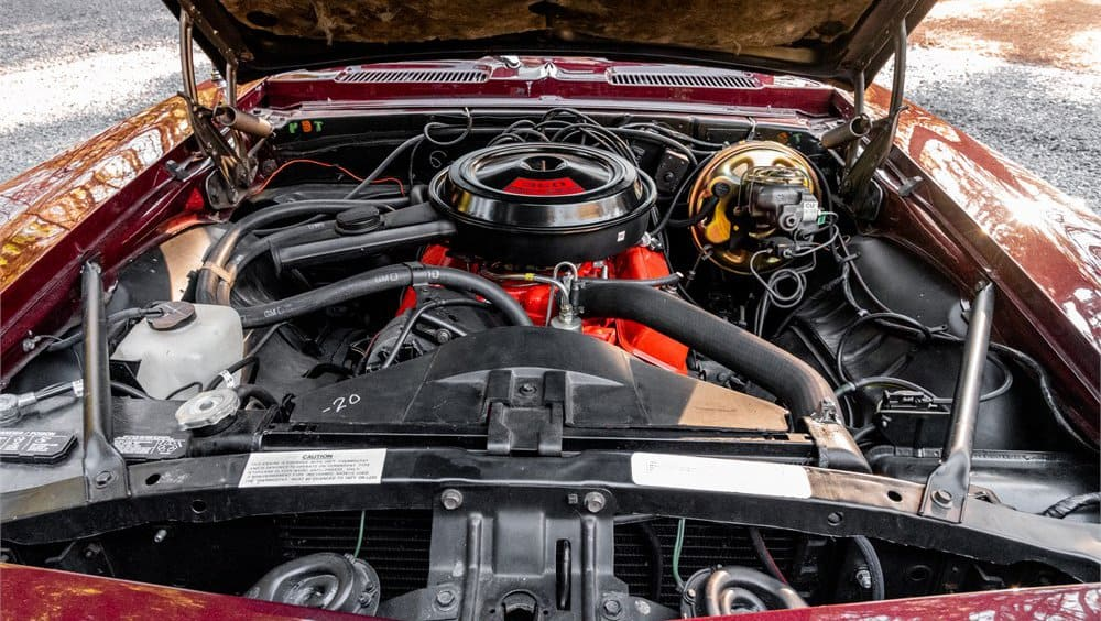 1969 Chevrolet Camaro RS engine