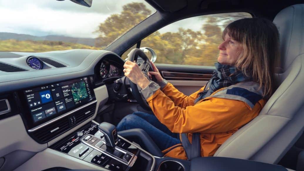 Driving the Cayenne Turbo S E-Hybrid: Professor Lynne Pearce
