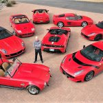 Steve Todhunter with his low mileage Ferraris