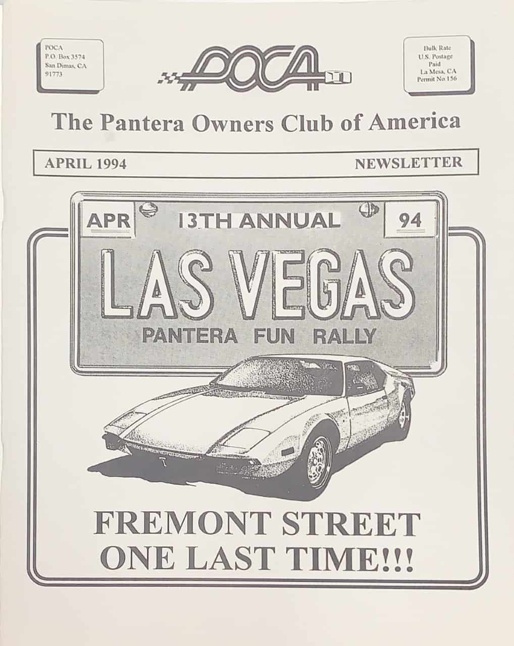 Pantera Club newsletter
