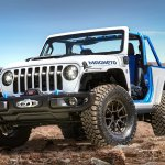 The Jeep® Wrangler Magneto concept is a fully capable BEV that