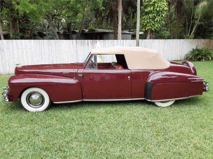 This 1946 Lincoln Continental convertible is an AACA award winner