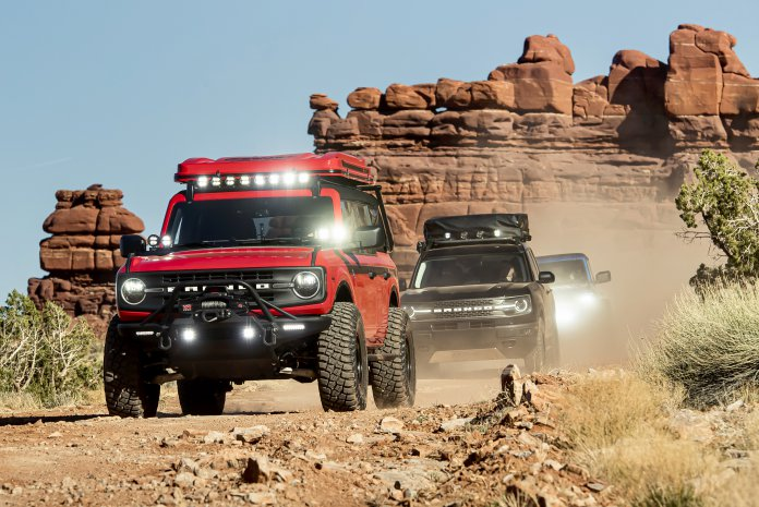 Ford Broncos at Moab