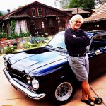 Tony Dow & his 62 Corvair at his house in the Santa Monica Mountains-photo courtesy Fireball Tim