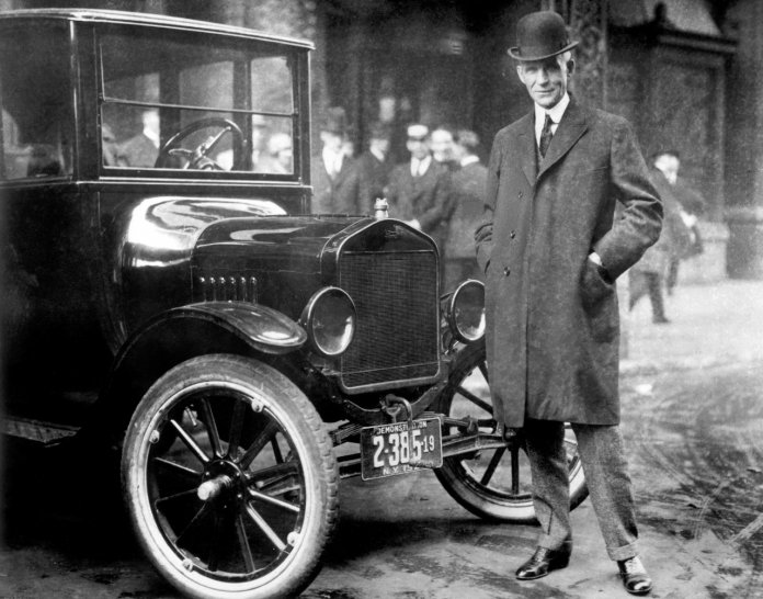 Henry Ford and 1921 Model T
