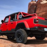The Jeep®Red Bare Gladiator Rubicon conceptbuilds on the pa