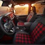 The Gladiator Red Bare's interior incorporates custom Katzkin Bl