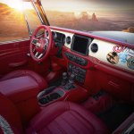 Jeepster Beach's custom interior features low-back bucket seat