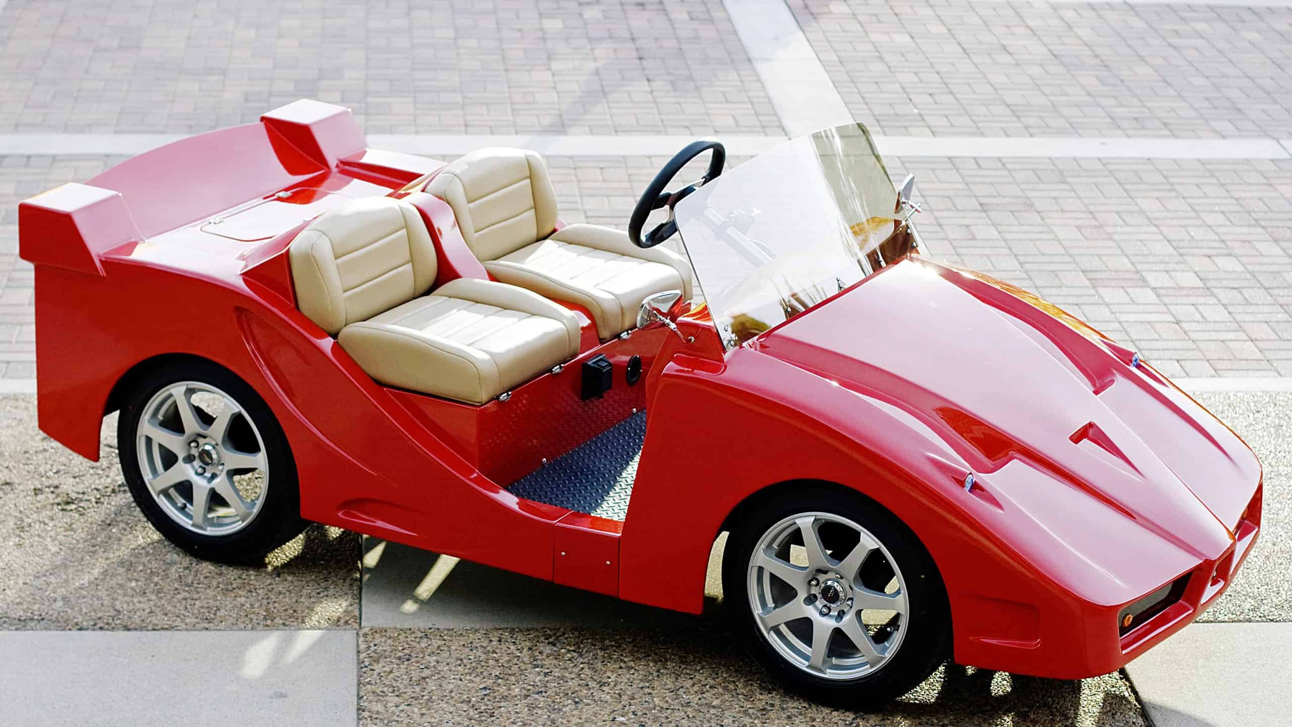 Ferrari F% golf cart