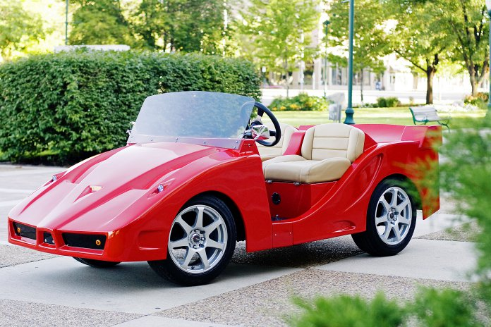 Ferrari F5 golf cart made by Luxury Carts