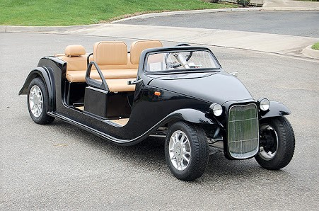 Roadster limo golf cart
