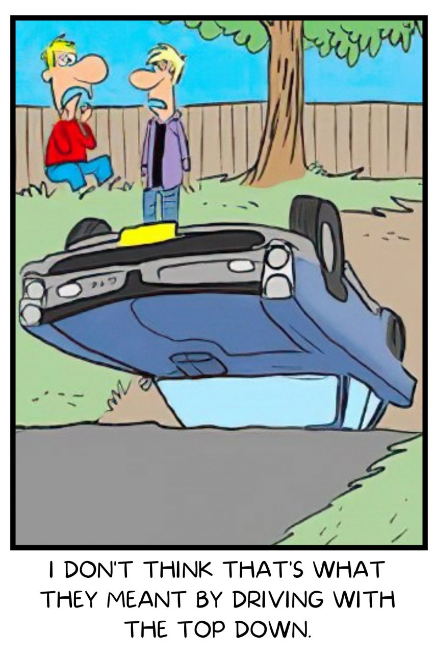 cartoon, Classic Carl cartoon caption contest: The winner is…, ClassicCars.com Journal