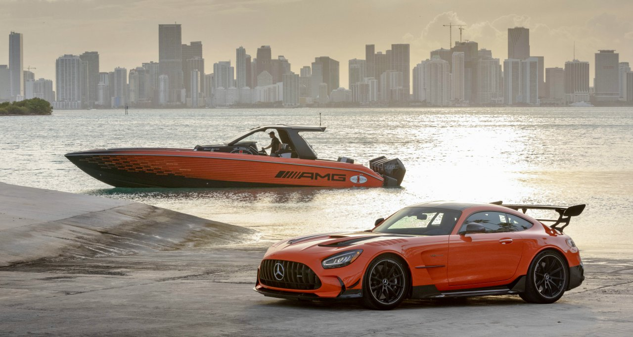 boat, Mercedes-AMG, Cigarette Racing present their latest car and boat combo, ClassicCars.com Journal