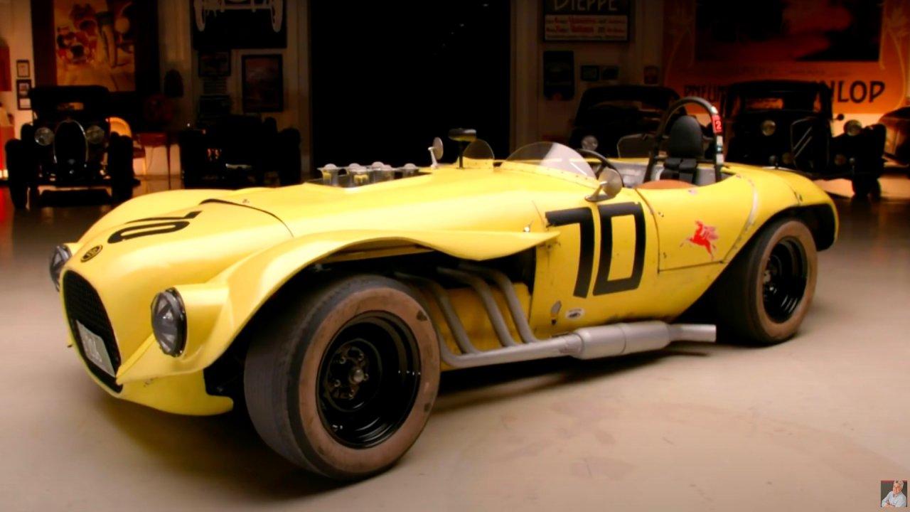 Jay Leno drives legendary Old Yeller II race car