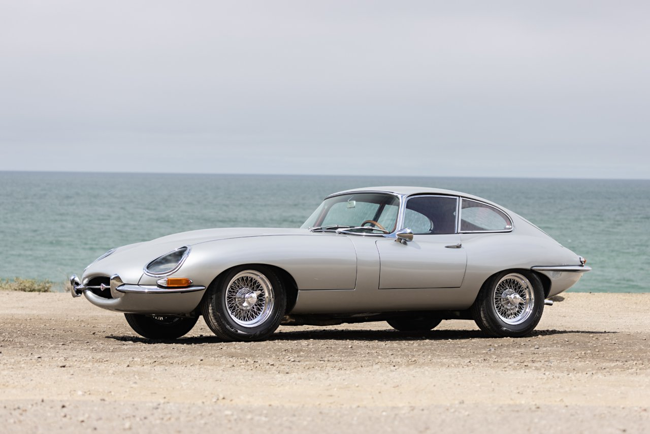 Neil Peart's 1964 Jaguar E-Type Coupe | Image courtesy of Gooding & Company, photo by Brian Henniker