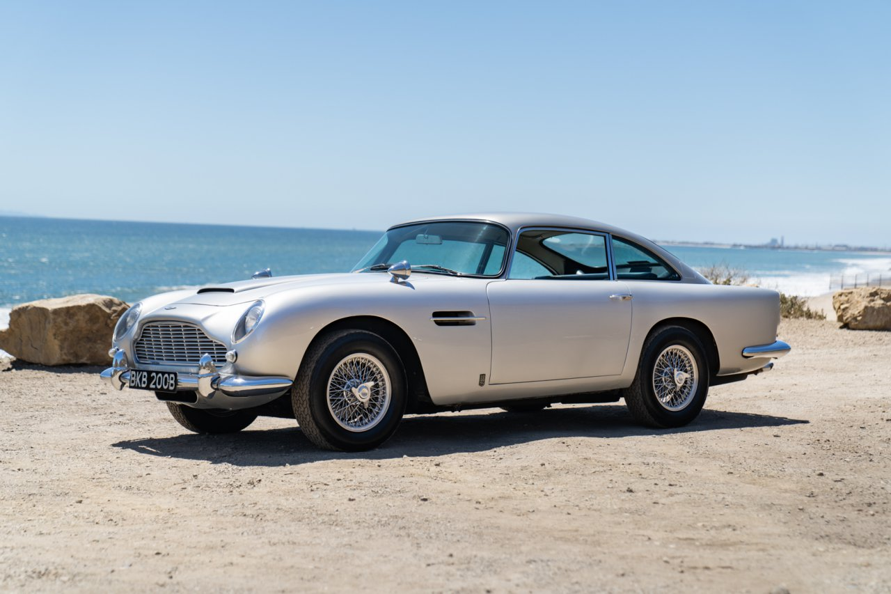 Neil Peart's 1964 Aston Martin DB5 | Image courtesy of Gooding & Company, photo by Mike Maez