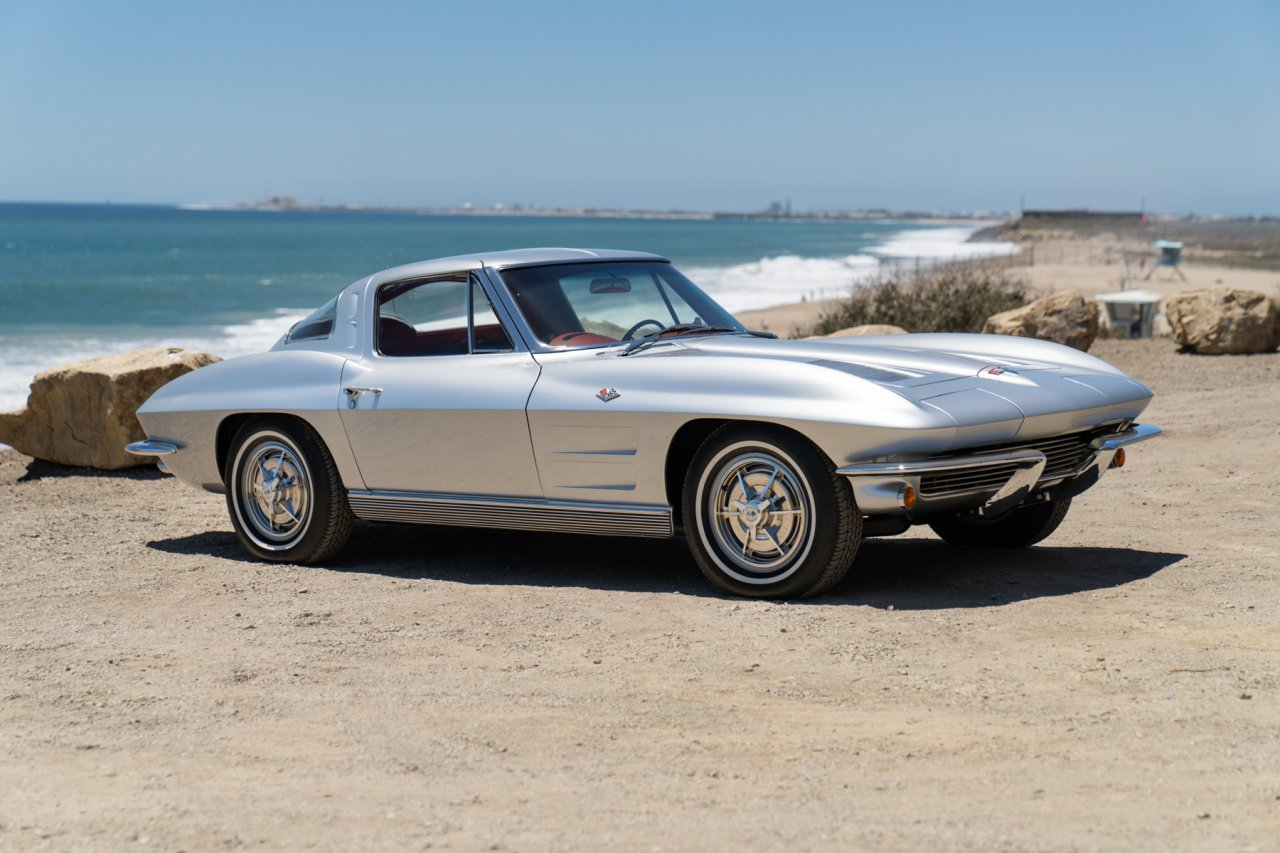 Neil Peart's 1963 Chevy Corvette | Image courtesy of Gooding & Company, photo by Mike Maez