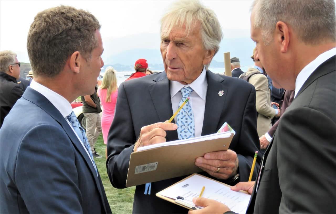 Racing legend Jackie Stewart at Pebble Beach | Bob Golfen photo