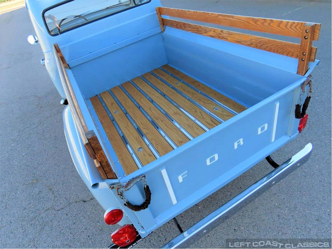 1954 Ford F100, barn-found baby blue pickup
