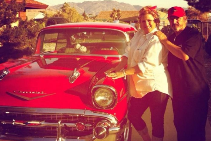 Peggy and Nelson with their restored 1957 Chevy Bel Air