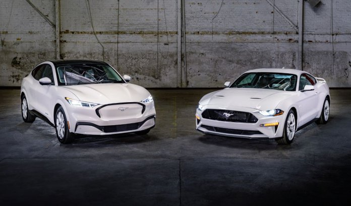 2022 Ford Mustang and Mustang Mach-E