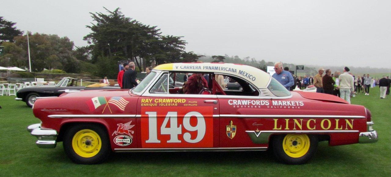 """Panamericana"", ""La Carrera"" ""Panamericana"" automobiliai demonstruojami Pebble paplūdimyje, ""ClassicCars.com Journal"""