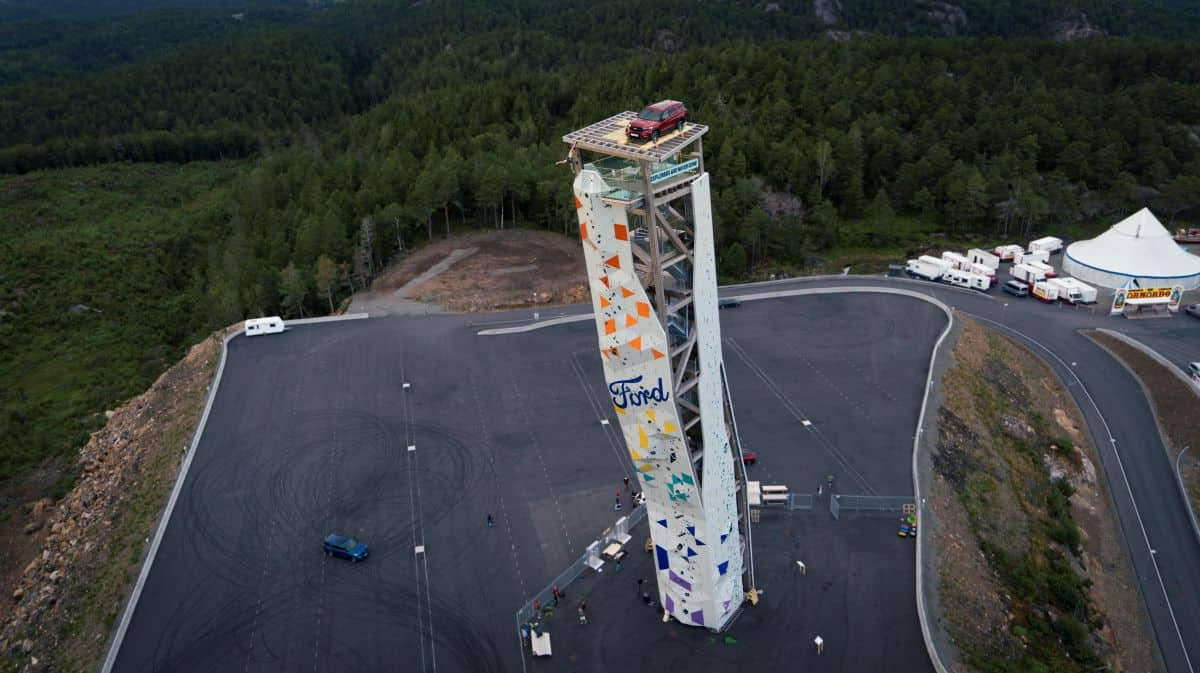 Ford, Ford Explorer reaches new heights on top of world's tallest climbing tower, ClassicCars.com Journal