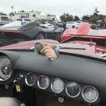 Howard riding shotgun in the CA Spider #3932-Howard Koby photo
