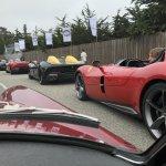 Start of the Ferrari Monza parade #3945-Howard Koby photo