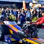 Top Fuel Dragster fires up #HVK7193-Howard Koby photo