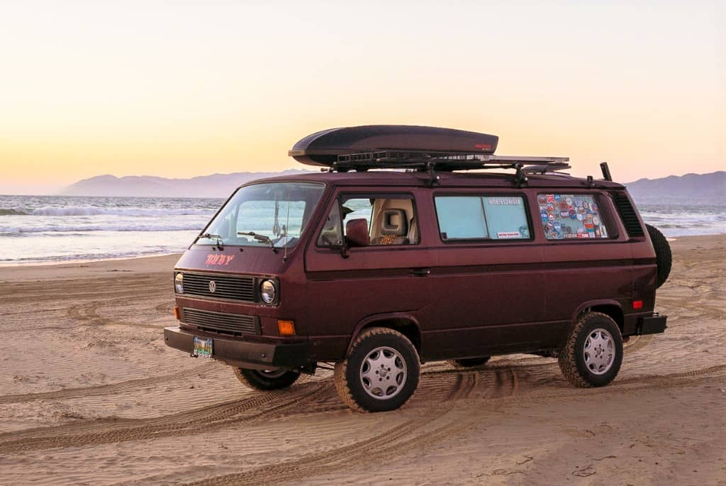 Woodward's VW Vanagon named Ruby   Willie Woodward photos