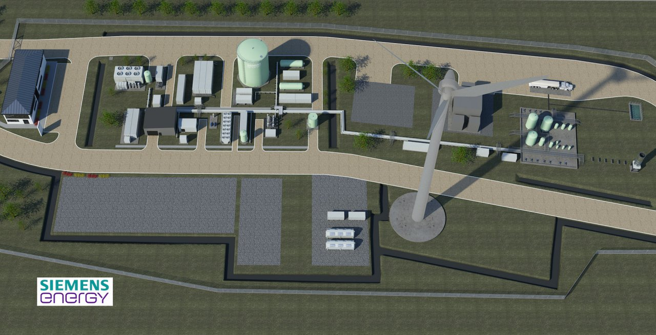 Artist's impression of the Haru Oni synthetic fuel pilot plant