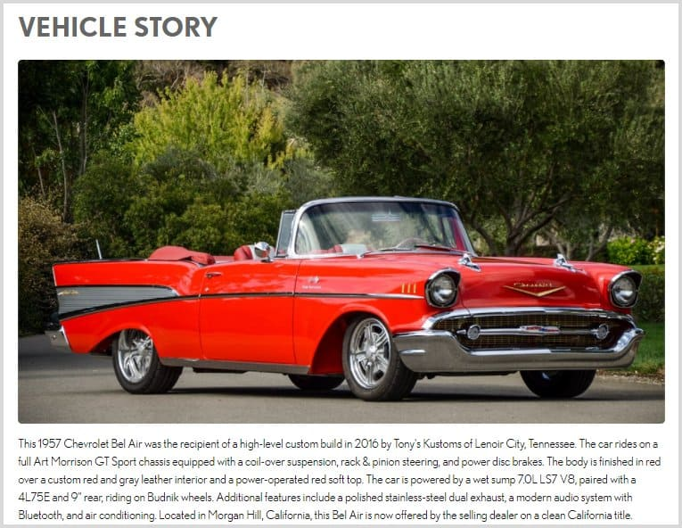 selling a collector car at auction