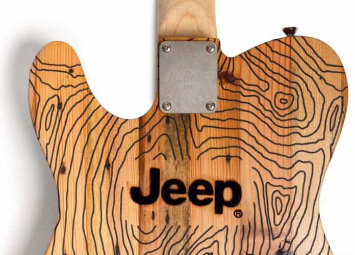 Jeep and Wallace Detroit Guitars custom guitar | Jeep photos