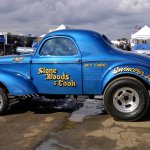 Restored Stone Woods & Cook '41 Willys-March Meet #135-Howard Koby photo