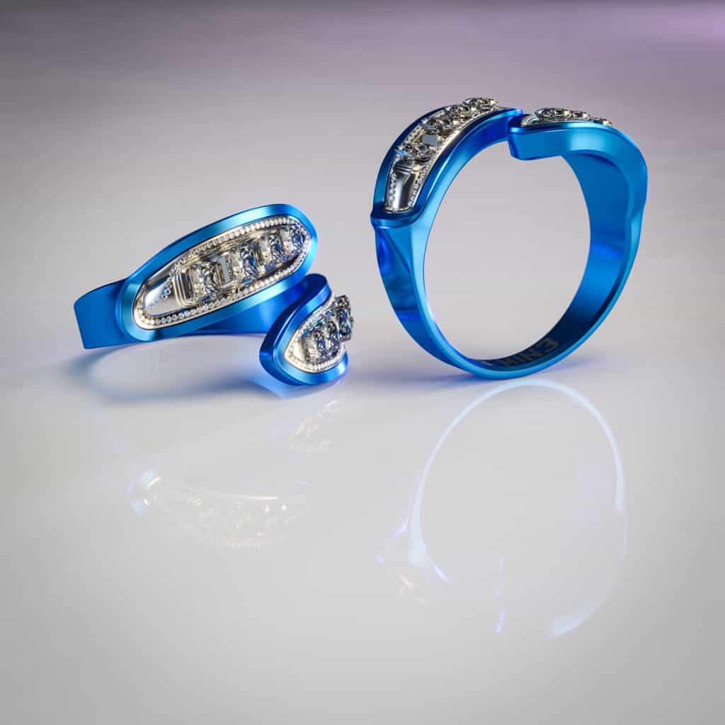 rings, Motor-inspired engagement rings made for gearhead couples, ClassicCars.com Journal