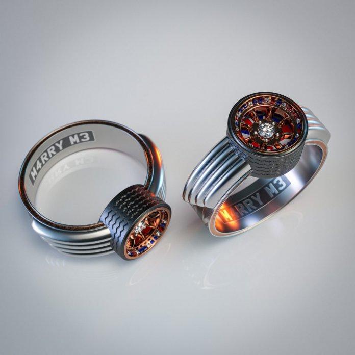 Mini Cooper themed wedding rings | Scrap Car Comparison photos