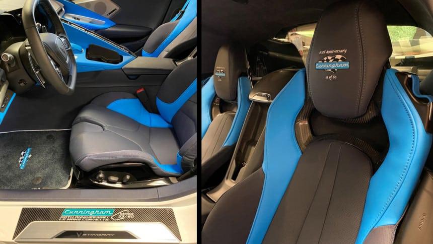 limited-edition Cunningham C8 Corvette interior
